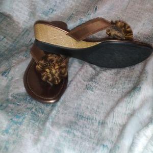 Lindsay Phillips Bronze Wedge Sandals